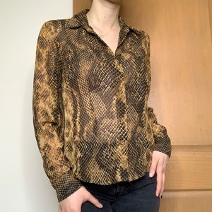 Snake Skin Blouse by Bandolino in a size 6